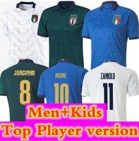 2020 2021 Italia Home Jersey Away 20 21 3xl 4xl Italia Maglie da Calcio Verratti Jorginho Romagnoli Homens Imóveis Crianças Futebol Camisetas