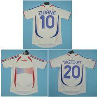 Top 2006 Copa do Mundo França Retro Camisas Zidane Camisa de futebol Henry Vintage Camisa de Futebol 1998 Camisa de Futebol Pires maillot de foot