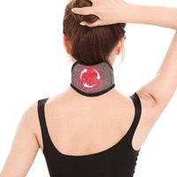 Auto-aquecimento Magnetic alívio da dor Terapia Enrole Proteja Pescoço Massager Belt turmalina pescoço suporte Pads aquecidos For Pain ZL07