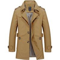 الرجال الخندق معاطف معطف الرجال الخريف سترة طويلة عارضة الأزياء الصلبة اللون معطف رقيقة عباءة 2021 chaqueta larga hombre