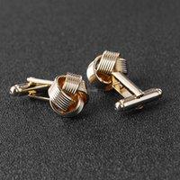 Нового золотого галстук узел французских запонок рубашка бизнеса манжеты кнопки ссылки для мужчин моды ювелирных изделий и песчаных новых