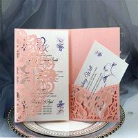 Cartões do convite do casamento Kits da mola do laser do laser da mola Cartão de convite nupcial para o acoplamento da festa de aniversário do pós-graduação 10 p2