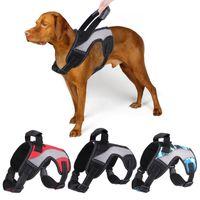 Hundegeschirr Kragen No-Pull Reflektierende atmungsaktive einstellbare Haustierweste mit Griffriemen für Outdoor Walking JK2012PH