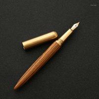 Stylos de fontaine de haute qualité stylo bois d'encre nib 0,7 mm Caneta Tinteiro Office Stylo Plume Penna Stilografica1