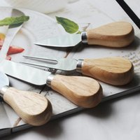 Cheese Knife Set Oak cabo da faca Fork Pá Kit raladores Baking pizza de queijo Slicer cortador Set OWF2151