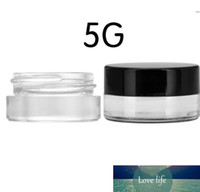 Wax Concentrate Glass Jar 3ml 5ML Dab Container with Black Lid Food Grade Free Shipping DHL SN994