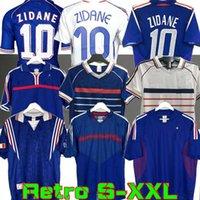 1998 Retro franc Zidane Henry Soccer Jersey 1996 2004 Football 1984 Chemise Trezeguet 1982 Finales 2006 Deschamps 2000 Pires Maillot de Footbal