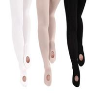 Stage Wear Ballet Tights Convertible Transition Dance Girls Women Pantyhose Stockings Pink White Black