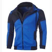 Icelion hoodies outono homens patchwork zipper cardigan moletom slim fit sportswear fashion tracksuit casual dropshipping lj201222