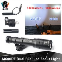 1400lumes Airsoft Surefir M600DF double chasse carburant Scout Lumière LED tactique Weapon lampe torche Fit Rails de 20 mm