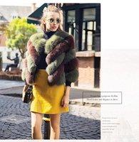 Faux Fur Coat donne sexy scollo a V Celebrity Night Club Winter Party Outwear rosa di alta qualità cappotti di pelliccia