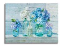 抽象的な壁のアートカラフルな花のキャンバスプリントバスルームのキッチンダイニングルームの装飾