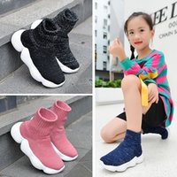 Children Casual Shoes Boys Girls Sneakers Child High Elastic Foot Wrapping Snow Boots Kids Knitted Socks Shoes 201201