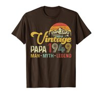 Mens Vintage 1949 Papa Man Myth Legend Tee 70th Birthday for Dad T-Shirt