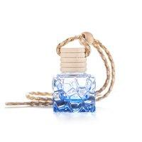 Küçük Araba Parfüm Şişesi Halat Düzensiz Uçucu Yağ Difüzör Koku Boş Küp Renk Asılı Süsler Şişeler Yeni Varış 1 5JT K2