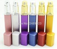 12 ml de calidad superior de lujo portátil recargable del perfume atomizador de pulverización de botellas vacías envases cosméticos 1pc