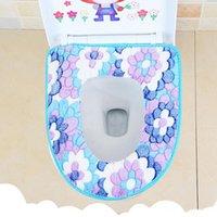 اكسسوارات الحمام الفانيل صديقة للبيئة غطاء وسادة وسادة الشتاء غسل الغسيل غطاء مقعد المرحاض لينة أدفأ حصيرة DH0462