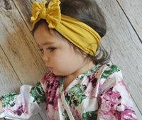 Venda del bebé del turbante nudo arcos del pelo del algodón de la muchacha de las vendas del niño sólido abrigo de la cabeza infantil Headwear elástico del pelo Accesorios YFALS2107