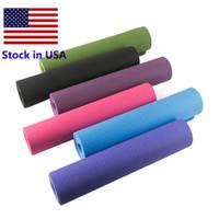 US STOCK 6 mm di spessore di schiuma Yoga Mat TPE ad alta elastico bambini Dance Fitness Esercizio di allenamento di ginnastica arredamento di casa Ginnastica Formazione Pad FY6146
