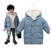 Casaco para crianças jaqueta de inverno para meninos de bebê meninas garotas de algodão parka casacos engrossar casacos longos quentes crianças outerwear 20117