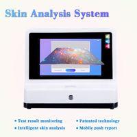 حار بيع 3D آلة تحليل الجلد مع 7 أنواع اللغات 12 مؤشرات الكشف عن محلل سكانر الجلد
