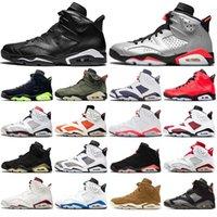 2020 Jumpman 6 6s zapatos de baloncesto Hare DMP 2020 para hombre de las zapatillas de deporte de atletismo lavados de mezclilla travis Scotts Oregon Ducks capacitadores con los calcetines libres