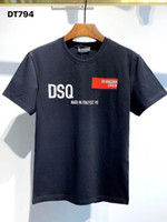 DSQ PHANTOM TURTLE 2021SS New Mens Designer T shirt Paris fashion Tshirts Summer DSQ Pattern T-shirt Male Top Quality 100% Cotton Top 1026