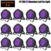 Auto Sound Active DMX512 Master-Slave 18x3W LED LED LED Lampada a LED Ultraviolet Black Light PAR Light Spotlight Lampada per disco DJ Club in alluminio