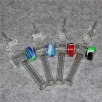 Néctar Collector con 10 mm 14 mm cuarzo Consejos Dab paja plataformas petrolíferas silicona Envase recuperador Keck tubo de vidrio de Clip accesorios de fumar DAB plataforma