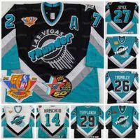 IHL Las Vegas Thunder 50e anniversaire 1994-95 Marc Habscheid 1990's Rhett Trombley 1995-96 Vladimir Tsysplakov 1994 Bob Joyce Hockey Jersey