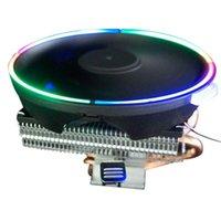 Fanlar Soğutma Keepro CPU Soğutucu 2 Saf Bakır Isı Borusu Soğutma Kulesi Aşağı Basınç Sistemi INTE için 12 cm Fan Radyatörü