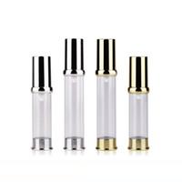 5ml 10ml 15ml Svuotare Oro Argento Airless Lotion Crema Pump Container, Viaggi cosmetici Skin Care bottiglia Dispenser