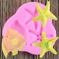 Rozgwiazda Silikonowa Formy Czekoladowe Ciasto Dekorowanie Narzędzia DIY Sea Star Ryba Kremówka Formy Pieczenia Narzędzia do Ciast