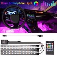 Interiorexternale Lichter 10w Auto Atmosphäre Licht LED Bunte Musik Rhythmus USB Sprachsteuerung Fußinnenraum Modifikation Dekorative Lampe1
