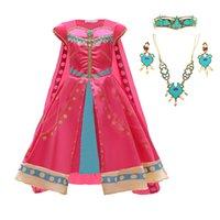 Cosplay della lampada di Aladino per Jasmine principessa Dress ragazza ragazze per bambini Ruolo costume di prestazione