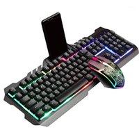 Tastiera di gioco cablata Mouse Combo Combo Set colorato LED retroilluminato KeyBoad1
