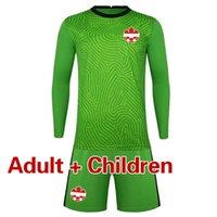 2021 Kanada Yetişkin Çocuklar Kaleci Uzun Kollu Futbol Formaları Ve Şort Çocuk Futbol Kaleci Gömlek Erkekler Kids Kit erkek Eşofman