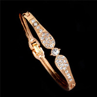 New Wholesale Bangles Dubai Wedding Jewelry Crystal Charm Br...