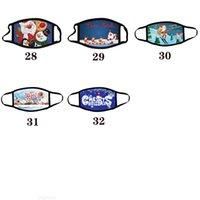 Color Navidad Adulto Navidad Calico Máscaras Máscaras Anti-niebla Lavable Máscara de algodón Dibujos animados Mascarilla Fiesta Máscaras de fiesta Diseño de moda Facenas Facemas MN