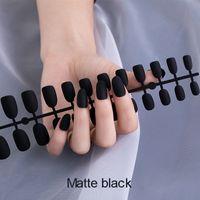24 pcs unhas falsas para prensura prensa de manicure em unhas falsas pregos destacáveis colorido fosco dicas falsas para as mulheres beleza