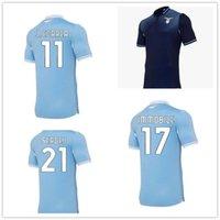 20-21 Lazio Ev Uzakta Siyah Tayland Kaliteli Futbol Jersey Gömlek Özelleştirilmiş Luis Alberto 10 D Jord Jevic 9 Hareketsiz 17 Bamos 3 Futbol Giyim 2020