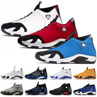 Nike Air Jordan 14 Retro 14 14s 2020 Stock x Jumpman 14 Gym Rot Stock Herren X 14s Basketballl Schuhe Universität Gold-Hyper Royal Sports Trainer-Turnschuhe