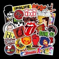 52 peça rock banda punk impermeável removível graffiti mão conta skateboard car fuga carro adesivo de carro hvy9