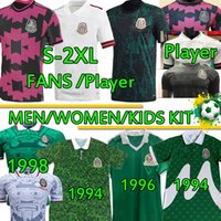 2020 2021 Mexique Retro Soccer Jeux Jerseys Fans Chiharito Camisetas Chándal de Fútbbol 1986 94 95 98 Home Away Hommes Shirts de football