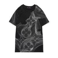 19SS Luxus Europäischer Kurzarm-Druck-T-Shirt Hohe Qualität Paar Frauen Herren Designer Mode Shirts M-3XL