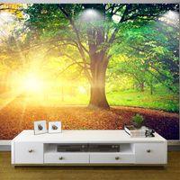 Custom Photo Wallpaper Modern Large HD Park Tree Fresh Mural Living Room Sofa Background 3D Non Woven