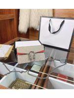 Yeni Dionysian Zincir Kapaklı Paketleri MS Tek Hakiki Deri Omuzlu Çanta Çanta Omuz Çantaları Çantalar Messenger Vintage Çanta