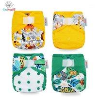 Pannolini di stoffa Eezkoala Eco-friendly Born Diaper Cover Baby Impermeabile Cappies Riutilizzabile Lavabile Regolabile Pocket1