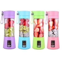 전기 Juicer 기계 380ml 휴대용 블렌더 USB 믹서 스무디 블렌더 미니 음식 프로세서 개인 레몬 압착기 오렌지 과즙 짜기