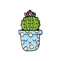 Broche de dibujos animados serie de plantas en maceta Cactus Accesorios encantadores Insignia Pin Personalidad Ornamentos Ornamentos Nueva Llegada 1 5BL M2